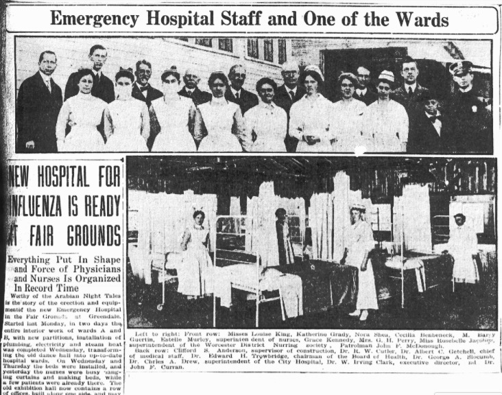 1918 Flu Pandemic Pictures & Headlines