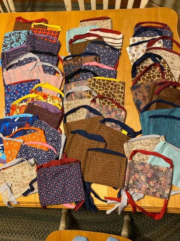 Facemasks by Worcester Stitchers for Health