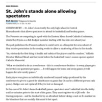 St Johns stands alone allowing spectators