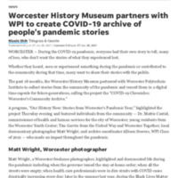 COVID-19 pandemic Worcester History Museum Worcester Polytechnic Institute.pdf
