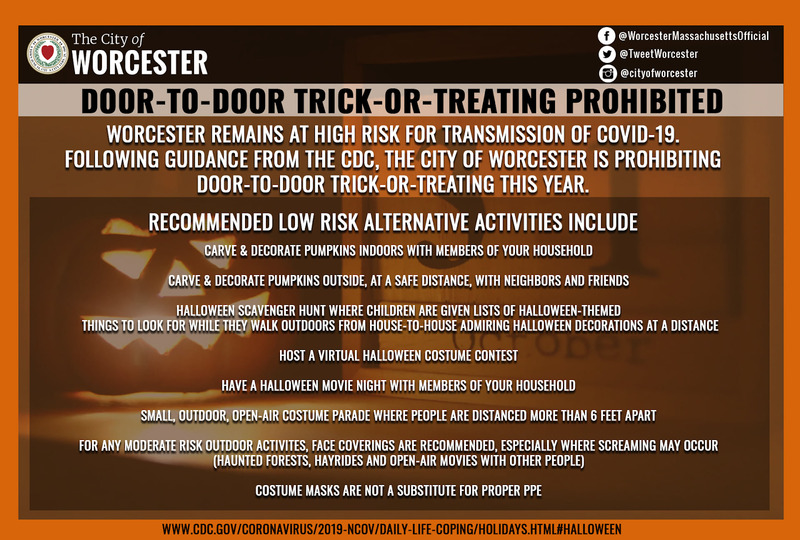 Worcester Trick-or-Treating Cancelled