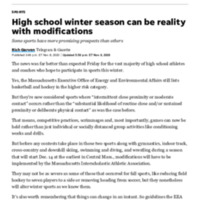 High school winter season can be a reality with modifications