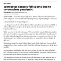 Worcester Public Schools cancel fall sports due to coronavirus pandemic