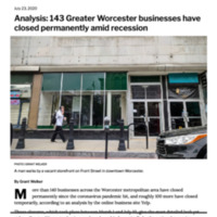 Worcester Businesses Close Permanently